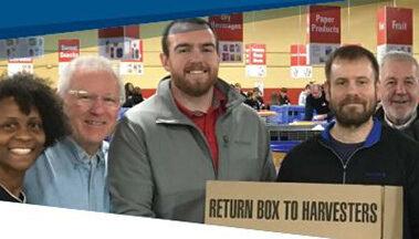 Harvest volunteer employee group photo